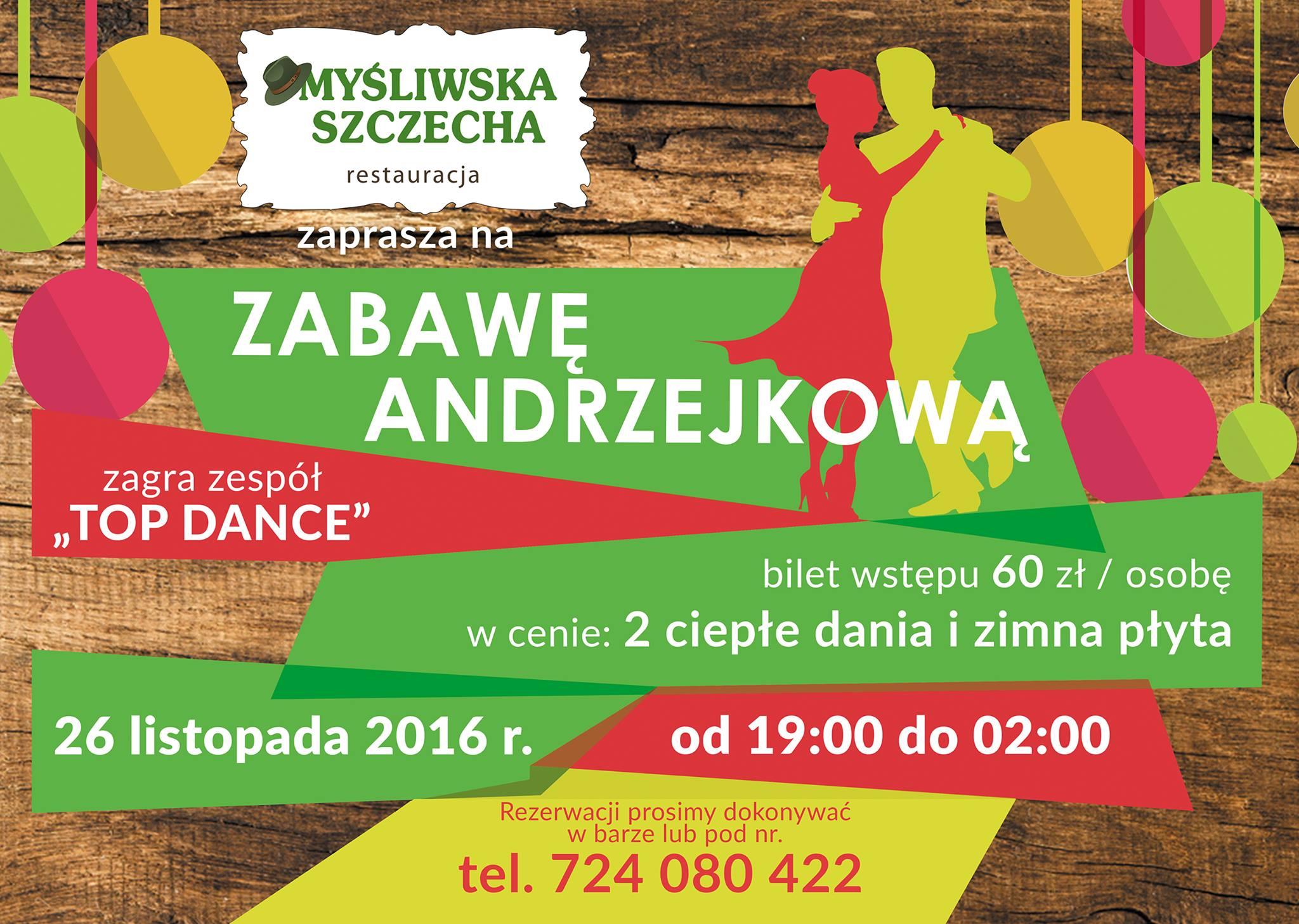 Zapraszamy na Zabawę Andrzejkową !!! 26.11.2016 od godz 19:00