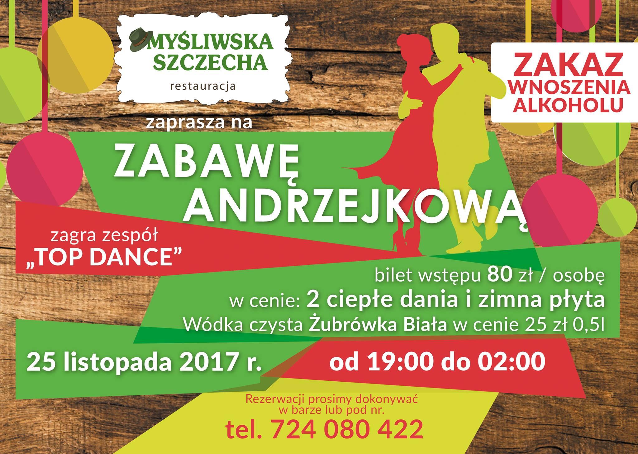 Zapraszamy na Zabawę Andrzejkową !!! 25.11.2017 od godz 19:00