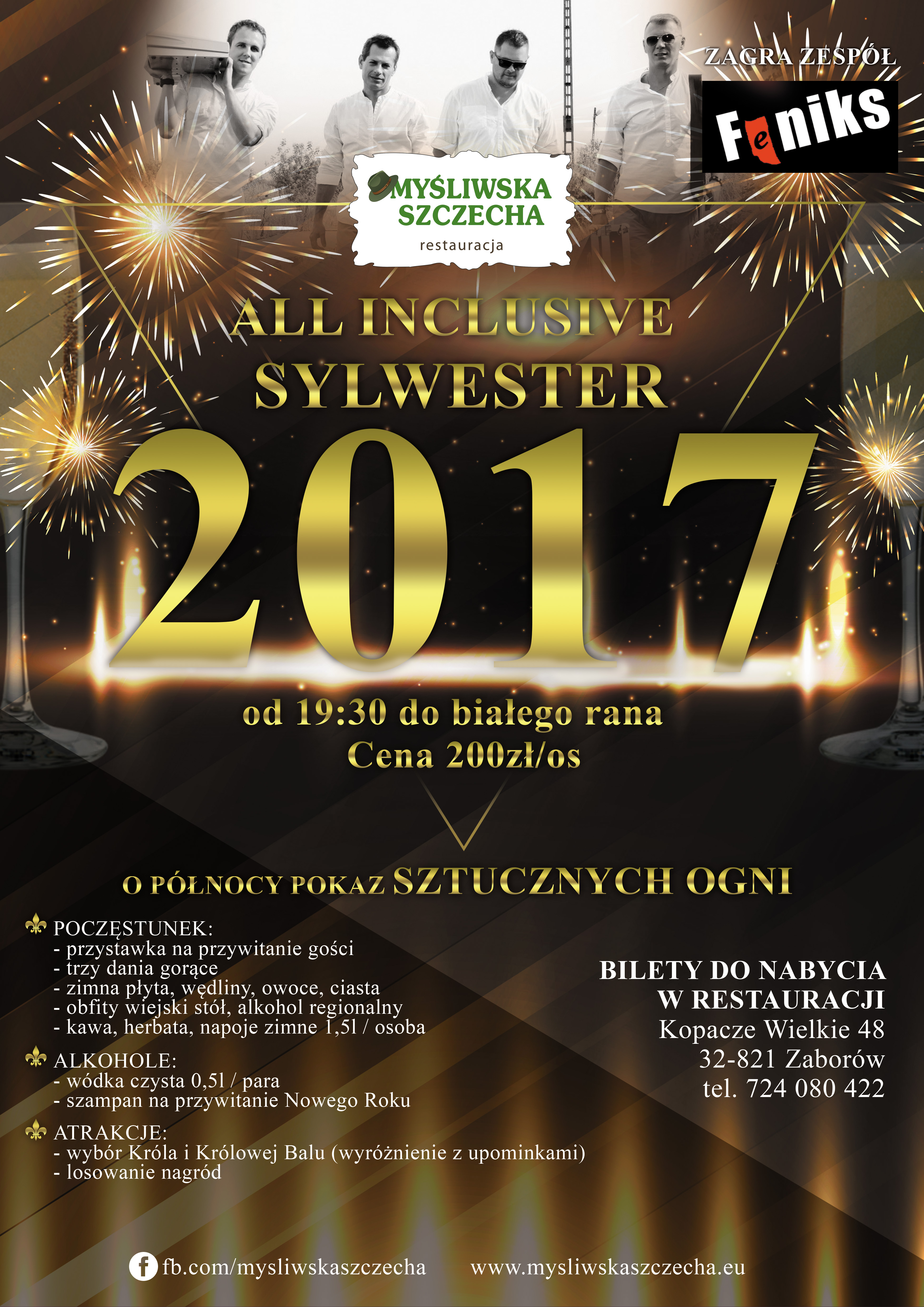 Przywitaj z Myśliwską Szczechą Nowy 2018 rok